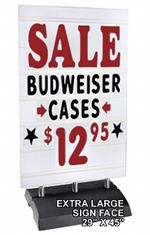 Springer Message Board Sidewalk Sign - Deluxe - Extra Large