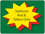 Starburst Yard Sign - Blank