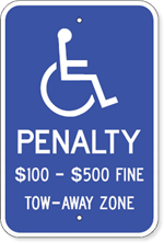 Virginia Handicapped Parking Sign with Disabled Symbol