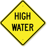 High Water Sign 24 x 24