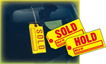 Large ''SOLD-HOLD'' Tag