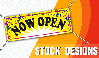 Stock Banners.  Choose a stock design and order today!