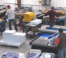 Political Yard Sign Production and Quality Control Inspection
