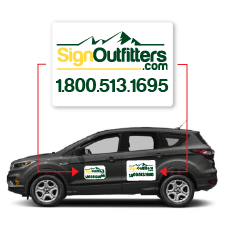 Magnetic Car Signs - Effective mobile political advertising. Premium magnet sheeting.