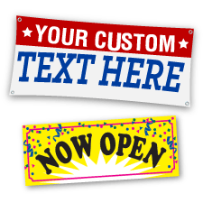 Custom Full Color Banners, Preprinted Banners, Vinyl Banners.  Advertise grand openings, sales or specials, with Banners