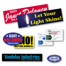 Decals, Labels and Stickers - Reflective pressure sensitive and static cling.