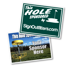 Golf Outing Signs, Golf Hole Sponsor Signs and Golf Event Signs. Golf Cart Signs, Tee Box Signs, Golf Ball Signs, Longest Drive Signs, or Closest to the Pin Signs