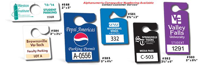 Hanging Parking Permits