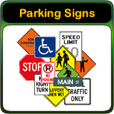 No Parking Signs, Street Signs, and Traffic Signs