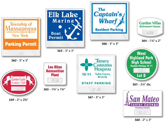 Car Window Parking Stickers