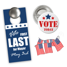 Political Campaign Products, Political Signs, Door Hangers, Magnets, Palm Cards, Pens