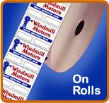 Oil Change Stickers Rolls of 1000