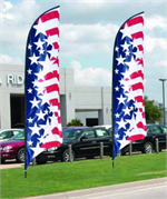 Feather Flags to show case Auto Dealerships