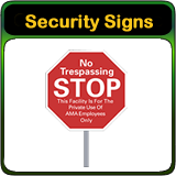 Security Signs you design online.