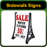Sidewalk Signs, Swinger Signs, A Frame Signs and Portable Sidewalk Signs