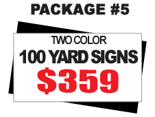 24 x 18 Yard Signs Package #5 - 50 Signs 2 Color Free Stakes Free Shipping