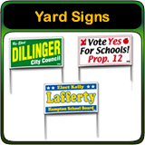 Political Yard Signs and Political Signs