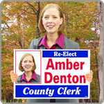 Click here for campaign sign dealers, yard signs, parking signs, campaign signs, real estate yard signs, and political signs.