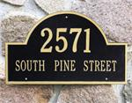 Personalized Address Plaque by Whitehall, Arch Marker Design