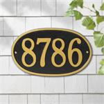 Oval Round Design Personalized Address Plaque