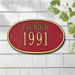 Date Design Personalized Address Plaque