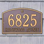 Cape Charles Design Personalized Address Plaque