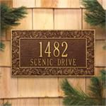 Oakleaf Design Personalized Address Plaque