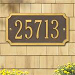 Cut Corner Design Personalized Address Plaque