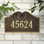 Versailles Design Personalized Address Plaque