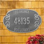 Florence Design Personalized Address Plaque