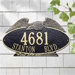 Eagle Oval Design Personalized Address Plaque