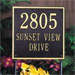 Square Design Personalized Address Plaque