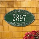 Morning Glory Oval Design Personalized Address Plaque