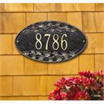 Ivy Oval Design Personalized Address Plaque