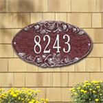 Rose Oval Design Personalized Address Plaque