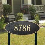 Madison Oval Design Personalized Address Plaque