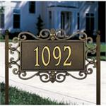 Mears Fretwork Design Personalized Address Plaque