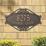 Hackley Fretwork Design Personalized Address Plaque