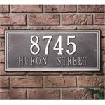 Double Line Design Personalized Address Plaque