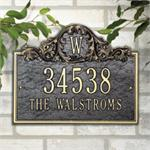 Acanthus Monogram Design Personalized Address Plaque