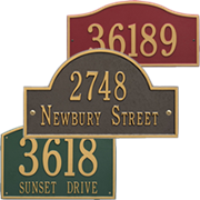 Personalized Address Plaque, by Whitehall Plaques