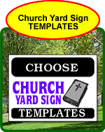Church Yard Sign Templates