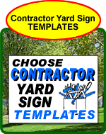 Contractor Yard Sign Templates