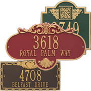 Decorative Address Plaques by Whitehall Products