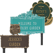 Selection of Garden Lawn Plaques which will add more  beautify any garden.