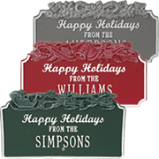Holiday Plaque Collection, Happy Holiday plaques to greet your visitors.