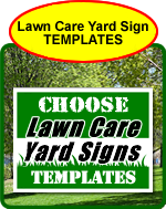 Land Care Yard Sign Templates, Landscaping, Snow Plowing