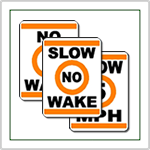 No Wake Marine Signs