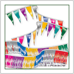 Metallic Pennant Strings for Dealerships