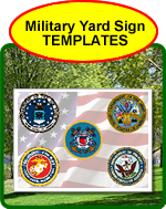 Military Yard Sign Templates